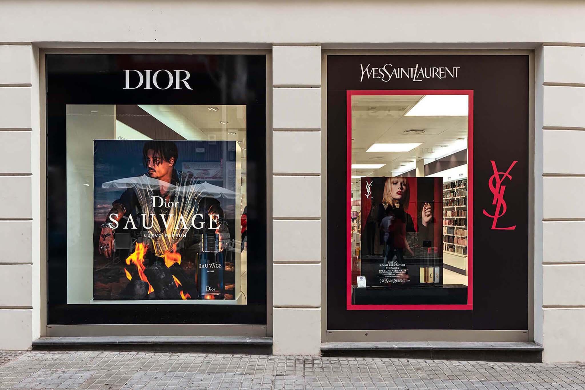 Escaparates Dior YSL