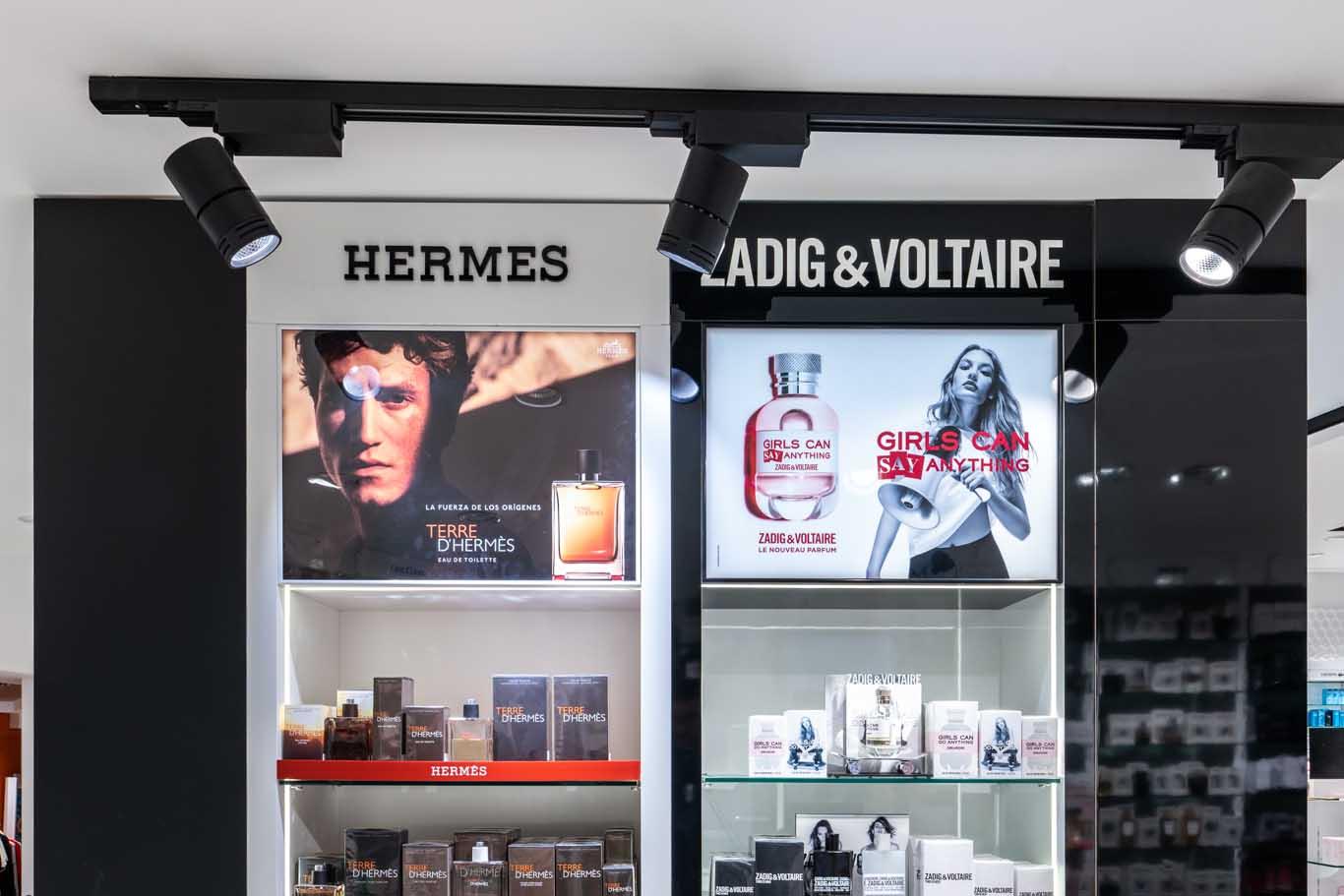 Instalación Hermes y Zadig & Voltaire