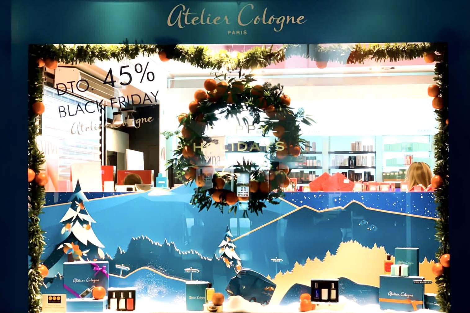 Escaparate Atelier Cologne Navidad